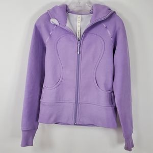 Lululemon Scuba Hoodie Purple Fleece Lined 6